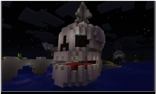 Minecraft Halloween Skull