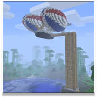 Minecraft Airship - Tall